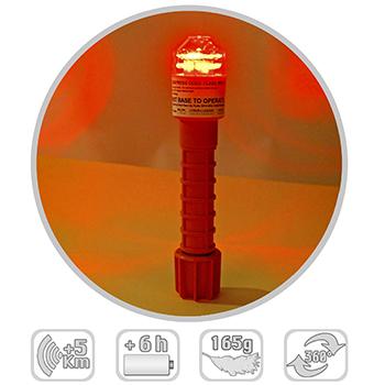 Odeo Flare Mk3 moyen de repérage lumineux à LED, équipement pour la sécurité en mer.