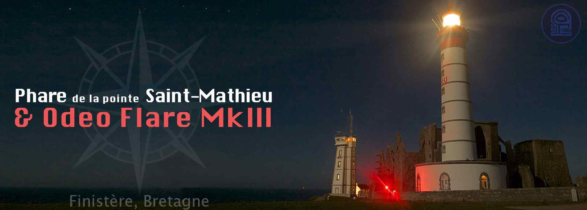 Odeo Flare signal de détresse LED au Phare de la Pointe saint-Mathieu Bretagne